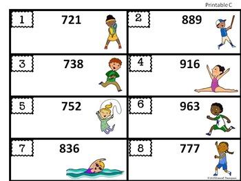 """Place Value """"Summer Kids"""" (Math Center)"""