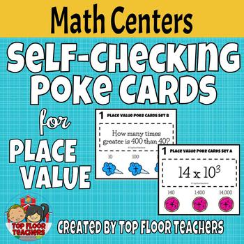 Place Value Poke Cards