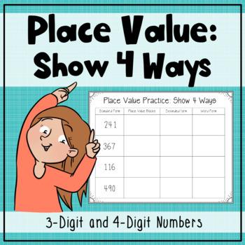 Place Value: Show 4 Ways!