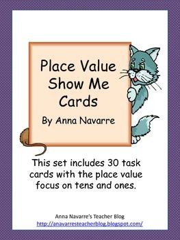 Place Value Show Me Cards