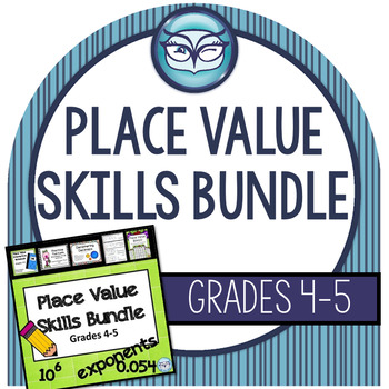Place Value Skills Bundle - Interactive Notebook, Games, T