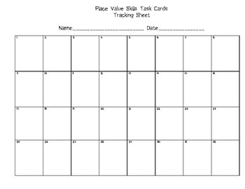 Place Value Skills Task Cards Common Core