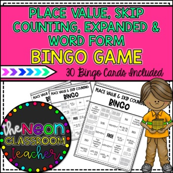 Place Value & Skip Counting Bingo Game!
