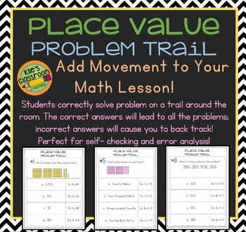 Place Value, Skip Counting, Ordering Numbers Problem Trail