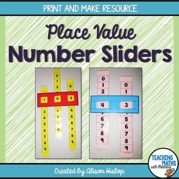 Place Value Sliders