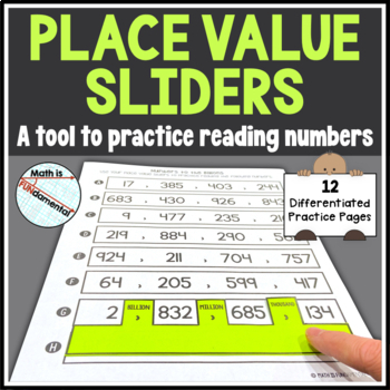 Place Value Sliders Activity - Teach reading numbers to th