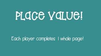 Place Value Smartboard Game