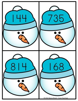 Place Value Math With Snowman For Grades 1 & 2