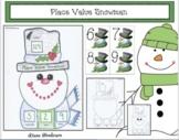 Winter Place Value Activities Snowman Game & Snowman Craft