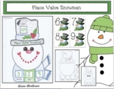 Winter Place Value Activities Snowman Game & Snowman Craft