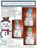 Snowman Activities Place Value Activities Snowman Craft