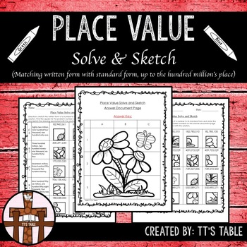 Place Value Solve & Sketch (Matching Written Form to Standard Form)