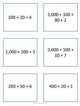 Place Value Sort - Base 10, Standard Form, Word Form, Expanded Form
