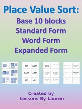 Place Value Sort - Base 9, Standard Form, Word Form, Expanded Form