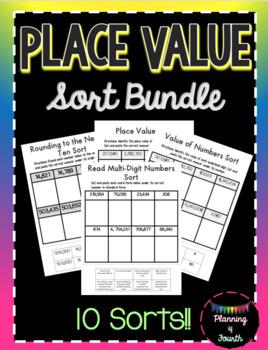 Place Value Sort Bundle-$15 Value