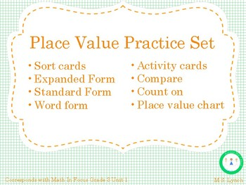 Place Value Sort Cards