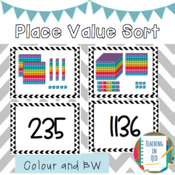 Place Value Sort (Colour and BW)