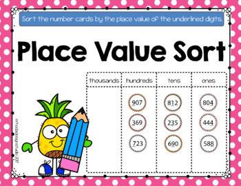 Place Value Sort Practice Google Classroom Paperless