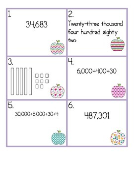 Place Value Sort and Record