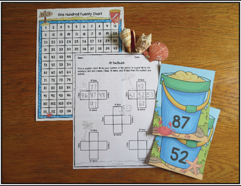 Place Value Sorting Activity Numbers 11-120 At the Beach