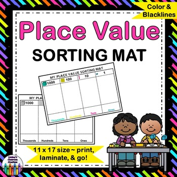 Place Value Sorting Mat - Print, Laminate, and Go!  FREE!!!!!