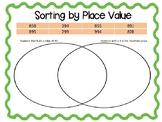 Place Value Sorting Venn Diagrams