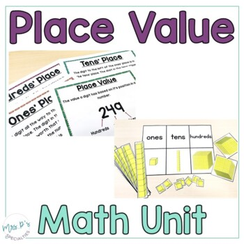 expanded form learning mat  Place Value Math Unit For Special Education (Leveled Math Centers)