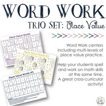 Place Value Spelling {Trio Set}