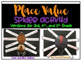 Place Value Spider Activity (for 3rd, 4th, and 5th Grade)