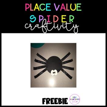 Place Value Spider Craftivity FREEBIE