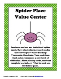 Place Value Spiders