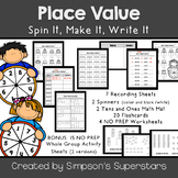 Place Value: Spin It, Make It, Write It (kids version)