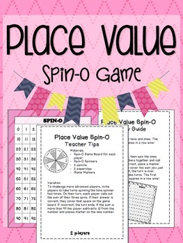 Place Value Spin-O: A Math Game
