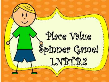 Place Value Spinner Centers, Independent Practice, and assessment, 1.NBT.B.2