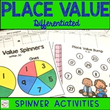 Place Value Spinner Math Center Games