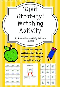Place Value & Split Strategy Matching Activity