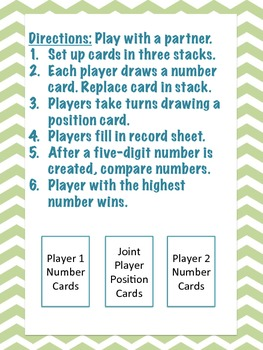 Place Value Stack Up