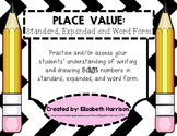 Place Value: Standard, Expanded and Word Form (3-digit numbers)