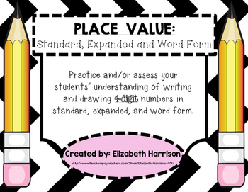 Place Value: Standard, Expanded and Word Form (4-digit numbers)