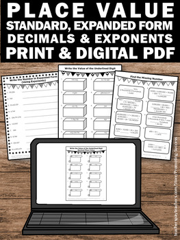math worksheet : value worksheets standard and expanded form 5th grade math review : 5th Grade Math Review Worksheets