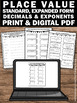 Place Value Worksheets 5th Grade Math Review Standard Form and Expanded Form