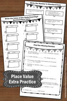 5th Grade Place Value Worksheets Standard Form and ...