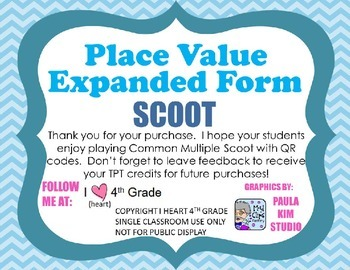Place Value Standard to Expanded Form SCOOT  CCSS2.NBT.A.3