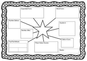Place Value Star Worksheet - Number of the Day