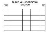 Place Value Station Sheet