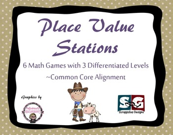 Place Value Stations - 6 Math Games - CCSS Aligned