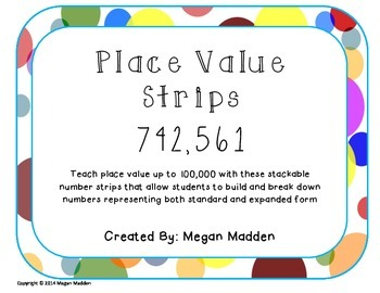 Place Value Strips - 100,000