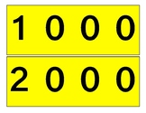Place Value Strips (Colored & Black and White)