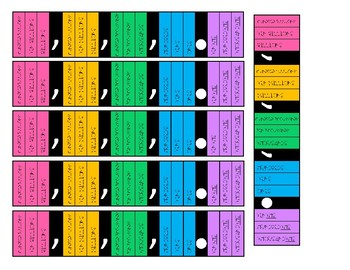 Place Value Strips - Sized for Target Rectangular Adhesive Labels!