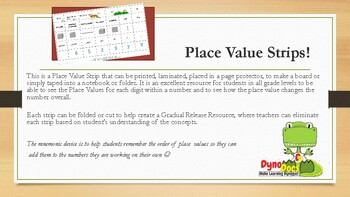 Place Value Strips (ones to millions)